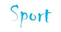 Sport Schrift Blau